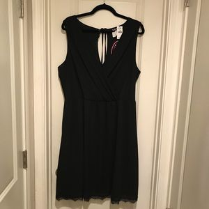 NWT Wet Seal Black Lace Bottom Dress